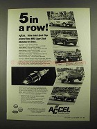 1974 Accel Yellow Jacket Spark Plugs Ad - Roy Davis