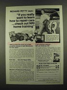 1974 NRI Training Ad -  Richard Petty - Repair Cars