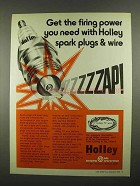 1974 Holley Spark Plugs & Wire Ad - Get Firing Power