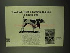 1974 Purina High Protein Dog Meal Ad - Hunting Dog