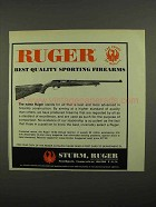 1974 Ruger 10/22 Deluxe Sporter Rifle Ad - Quality