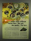 1973 Garcia Fishing Line Ad - Many Different Lines