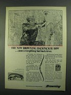 1973 Browning Backpacker Bow Ad - Cures Everything