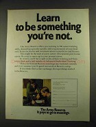 1972 U.S. Army Reserve Ad - Learn to Be Something