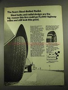 1972 Sears Steel-Belted Radial Tire Ad