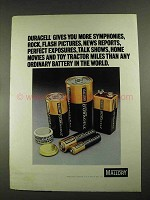 1972 Mallory Duracell Batteries Ad - More Symphonies