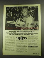 1972 McCulloch Mini Mac 1 Chain Saw Ad - Your Yard