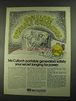 1972 McCulloch Portable Generators Ad - Your Secret