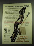 1972 Browning Explorer Bow Ad - Makes Famous Arms