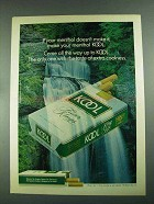 1972 Kool Cigarettes Ad - Your Menthol Doesn't Make It