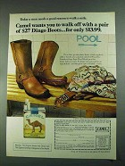 1972 Camel Cigarettes Ad - A Pair of Dingo Boots
