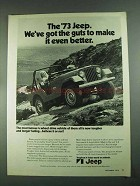 1973 Jeep Ad - The Guts To Make It Even Better