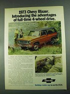 1973 Chevrolet Blazer Ad - Introducing Advantages