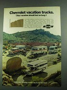 1972 Chevrolet Trucks Ad - Vacation Trucks