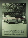 1972 Champion Spark Plugs Ad - You Name It