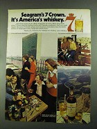 1972 Seagram's 7 Crown Whiskey Ad - America's Whiskey