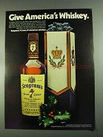 1972 Seagram's 7 Crown Whiskey Ad- Give America's