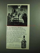 1987 Jack Daniel's Whiskey Ad - Sit to Christmas Dinner