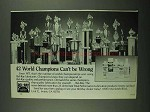 1987 Bel-Ray Lubricants Ad - 42 World Champions