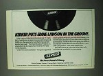 1987 Kerker Exhaust Systems Ad - Eddie Lawson in Groove
