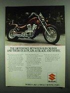 1986 Suzuki Intruder VS700GL Motorcycle Ad - Cruiser