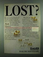 1981 Zales Diamond Rings Ad - Lost?