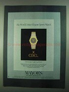1981 Ebel Watches Ad - Most Elegant Sports Watch
