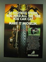 1981 Michelin M-45 and M-48 Tires Ad - Highway Speeds