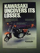 1981 Kawasaki KZ1000 Motorcycle Ad - Uncovers Losses