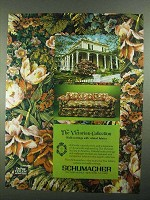 1981 Schumacher Victorian Collection Wallcovering Ad