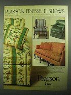 1981 Lane Pearson Furniture Ad - Finesse. It shows
