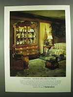 1981 Henredon Folio Fifteen Furniture Ad - Excellence