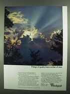 1981 Whirlpool Appliances Ad - Things of Quality