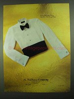 1981 A. Sulka & Co. Ad - Swiss Voile Evening Classic