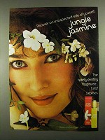 1981 Jungle Jasmine Perfume Ad - Unsuspected Side