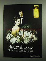 1981 Evyan Perfum White Shoulders Perfume Ad