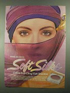 1981 Maybelline Soft Silks Colors Cling Eye Shadow Ad