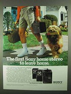 1981 Sony Transound XF-5000 Stereo Ad - Leave Home