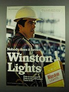 1981 Winston Lights Cigarettes Ad - Does it Better