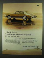 1981 Cadillac Seville Car Ad - Remarkable Investment