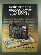 1981 Yashica Auto Focus S Camera Ad - More Pictures