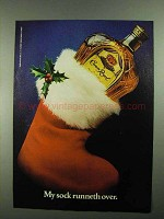 1981 Seagram's Crown Royal Bourbon Ad - My Sock