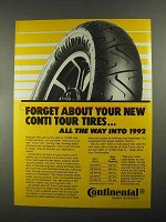 1988 Continental TK17 Tires Ad - Forget About
