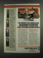 1988 Metzeler Tires Ad - ME33, ME99A, ME1 and Slicks