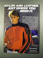 1988 Hein Gericke Cadet Jacket Ad - Nylon and Leather