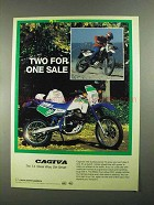 1988 Cagiva T-4 Motorcycle Ad - Two For One Sale