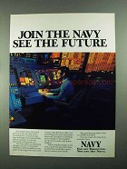 1988 U.S. Navy Ad - Join the Navy See the Future