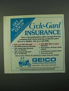 1988 Geico Cycle-Gard Insurance Ad - Get To Know