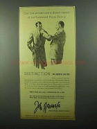 1943 John Wanamaker Men's Suits Ad - Lowered Price