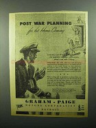 1943 Graham-Paige Motors Ad - Post War Planning